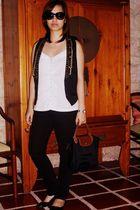 SM vest - Billabong top - longchamp purse - Charlotte Russe