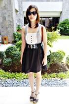black Topshop top - black urbanjuncturemultiplycom skirt - black Folded & Hung b
