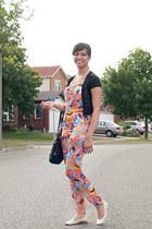 Ardene flats - Kathy van Zeeland bag - Ebay cardigan - H&M romper