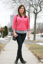 Forever 21 shirt - Steve Madden boots - H&M sweater
