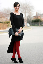 H&M necklace - Forever 21 dress - H&M leggings - Myles Sexton ring - Aldo pumps