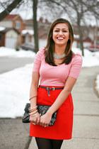 H&M skirt - H&M belt - Zara top - kate spade bracelet