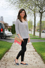 Aritzia-leggings-h-m-bag-h-m-necklace-h-m-top-forever-21-loafers