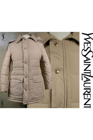 beige vintage yves saint laurent coat