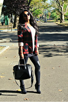 vintage blazer - asos boots - Gap sweater - f21 leggings
