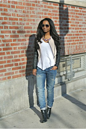 Sheinside jacket - Vigoss jeans - Zara t-shirt