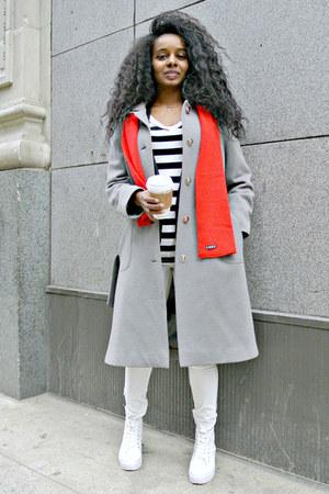 H&M shoes - vintage coat - H&M pants