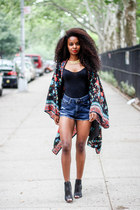 Orchids and Spice cardigan - Chinese Laundry shoes - Urban Outfitters shorts