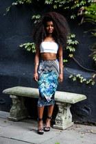 JCPenney skirt - asos sandals - Forever 21 top - H&M bracelet