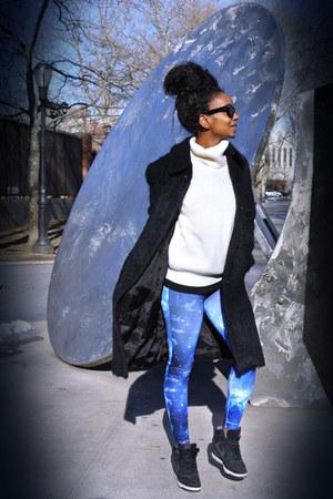 nike shoes - H&M coat - vintage sweater