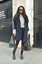 vintage coat - Zara sweater - Ralph Lauren bag - Forever 21 skirt