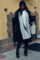 nike shoes - bcbg max azria coat - Old Navy sweater - Zara bag
