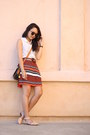 Carrot-orange-forever-21-skirt-dark-brown-gap-belt-nude-zara-flats