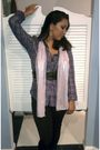 Purple-hurley-blouse-pink-scarf-black-miss-juli-leggings-black-belt