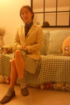 with toe socks Grasshoppers loafers - vintage ann taylor blazer - INC top