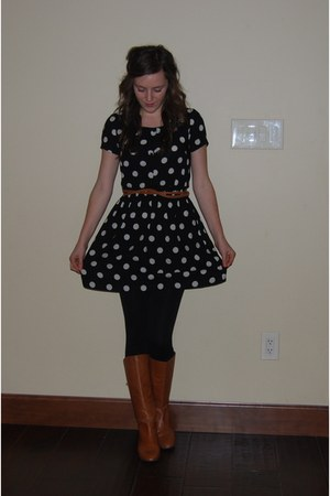 H&M dress - Nordstrom belt - Steve Madden boots