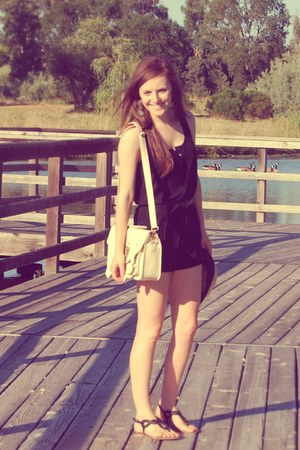 off-white no brand purse - black Forever 21 romper - braided black Target sandal