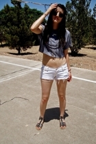 American Apparel shirt - abercrombie and fitch shorts - Old Navy shoes - necklac