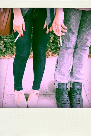 American Apparel washed grey Jeans pants - Forever 21 jeans pants