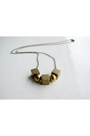 brass A Little Dot necklace
