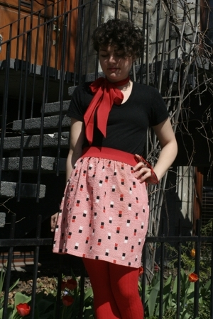 supayana skirt - American Apparel t-shirt - tights