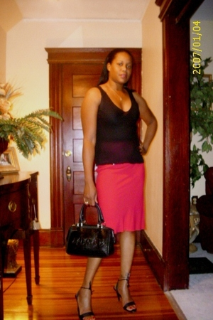 Prada blouse - Prada skirt - Gucci shoes - Fendi purse