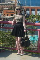 le chateau blouse - le chateau skirt - Nine West shoes - le chateau purse