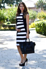 Zara-dress-celine-bag-christian-louboutin-heels-h-m-vest