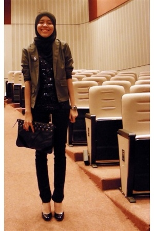 portmans - Aldo shoes - MNG purse - JayJays jeans - Online boutique jacket