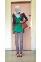 Valleygirl top - Dotti - trademe - Shoe Warehouse shoes - JayJays jeans - supre