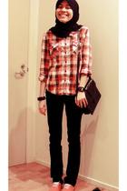 trademe shirt - cotton on shoes - trademe purse - casio databank