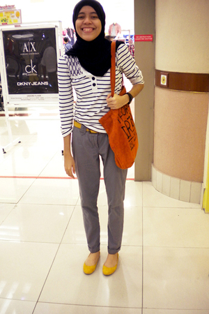 given by my sister - Factory Brand Outlet shoes - Dotti belt - Valleygirl top -
