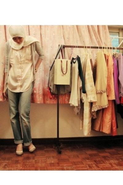 Aldo shoes - Dotti - cotton on top - Zara jeans - Sg Wang necklace