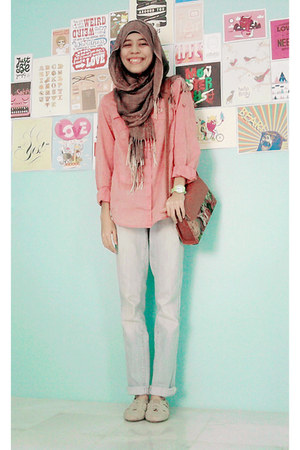 MNG shirt - Just jeans jeans - cotton on shoes - bag