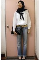 Dotti belt - Zara jeans - thrifted blouse - vintage Casio - Vincci shoes - MNG