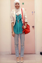 Valley Girl top - Dotti - Peoples blazer - Aldo shoes - Topshop necklace - Just