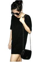 black shirt - black purse