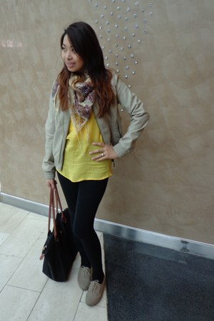 Forever 21 jacket - Primark shoes - Miss Selfridges leggings - next scarf