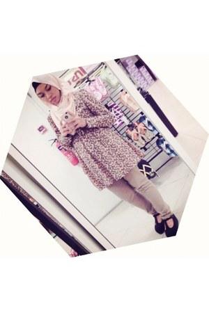suede wedges - hijab scarf - pashmina scarf