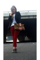 Stradivarius jeans - Zara blazer - H&M shirt - Zara bag