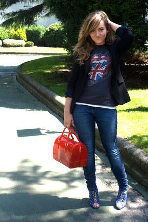 Furla bag - Massimo Dutti blazer - portobello market shirt - Zara sandals
