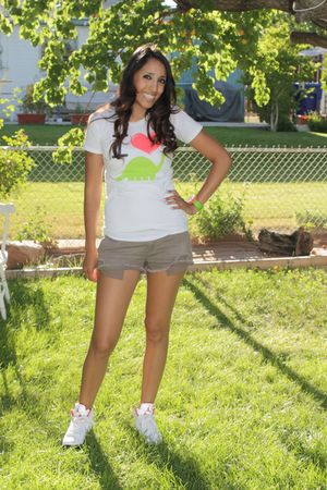 Goodie two sleeves shirt - Target shorts - jordan shoes - hello kitty accessorie