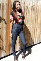 rue21 shirt - Highway jeans - simply vera shoes - Forever 21 necklace