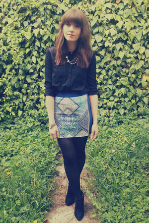 print H&M skirt - sheer TK Max shirt