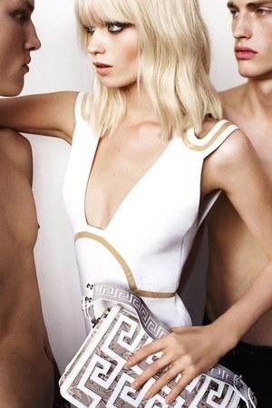 versace dress - versace bag