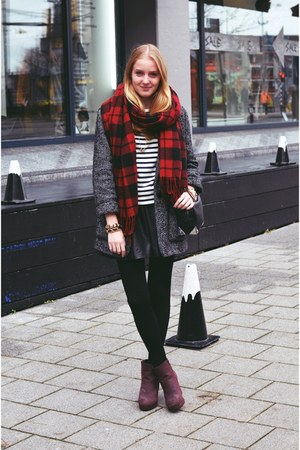 Mango coat - Even&Odd boots - Primark scarf - H&M top - Zara skirt