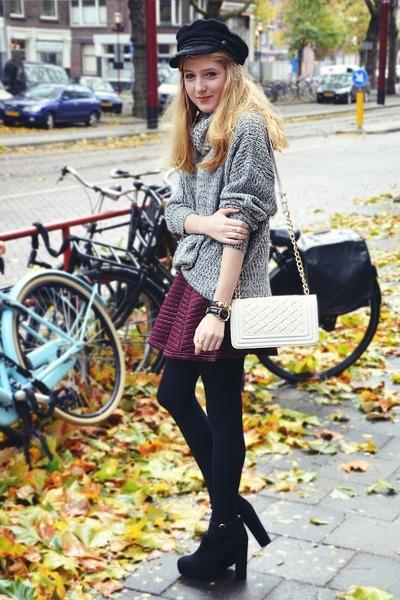 SuperTrash boots - H&M hat - Forever 21 bag - River Island skirt