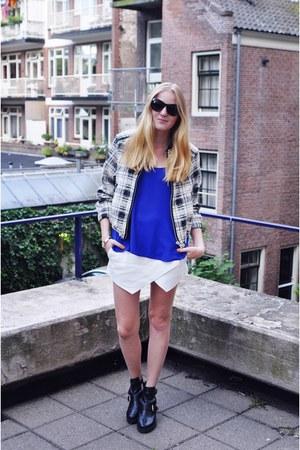 H&M bracelet - Topshop boots - Mango jacket - Primark top - Zara skirt
