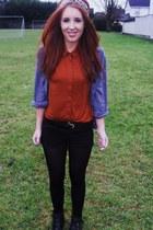 Primark shirt - Primark shorts - Topshop blouse