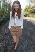 Primark shorts - Primark necklace - Primark blouse - Primark loafers